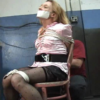 Blond Milf Bound And Strangled
